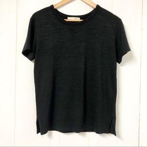 Aritzia Wilfred Free Black Knit T Shirt Size S